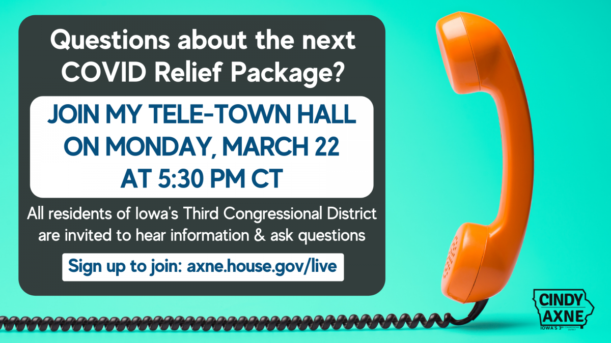 Telephone Town Hall Announcement for March 22nd