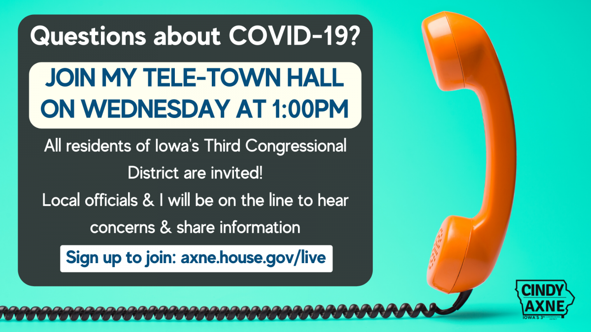 Telephone Town Hall Announcement for April 29th